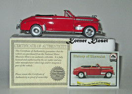 1941 Chevrolet DeLuxe Convertible History of Ch... - $18.33