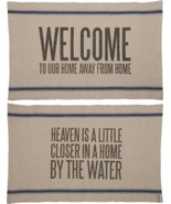 2 Sided Quote Throw Rug Heaven is a Little Closer in a Home by the Water - $19.95