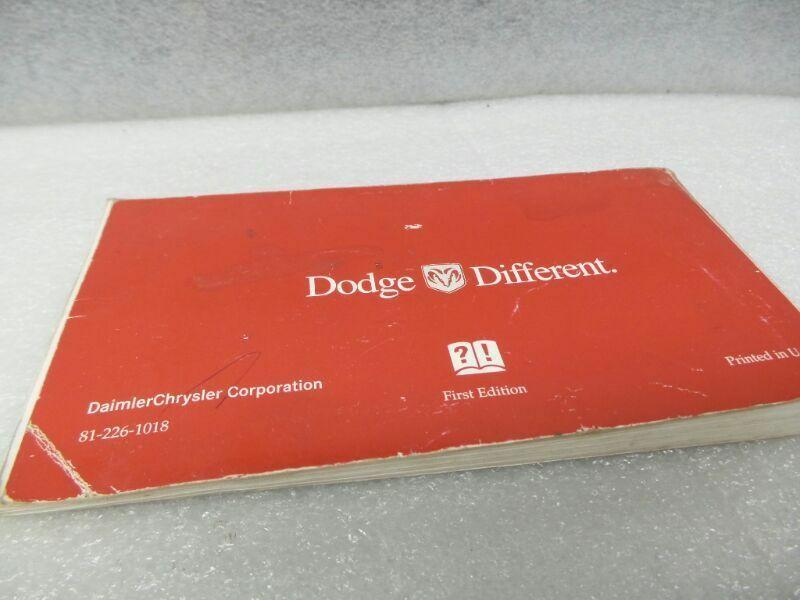 DODGE CARAVAN   2001 Owners Manual 16696