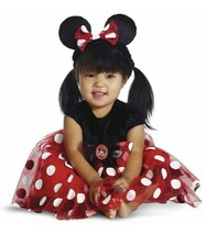 Minnie Mouse Child Costume Infant Size 12-18 Months Red Polka Dot Disney Baby - $14.84