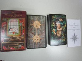 The Modern Medieval Tarot Esoteric Tarot Cards Desk Used Japan D80 - $691.39