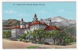 Antlers Hotel Colorado Springs Colorado postcard - $4.46