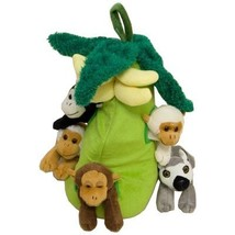 Plush Monkey House with Animals - Five 5 Stuffed Monkeys in Play Banana ... - $32.88