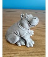 Baby Hippo Hippopotamus Marty Sculpture Handcrafted in Essex Junction VT  - $39.55