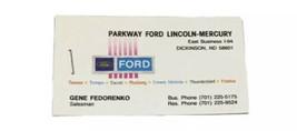 Vtg Parkway Ford Business Card Dickinson North Dakota Gene Fedorenko Adv... - $19.79