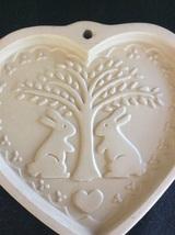Brown Bag Cookie Art Mold 1989, Bunny Rabbit &Heart - $10.00