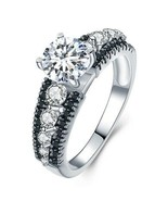 2.00 ctw Sterling SILVER Simulated Diamond Engagement Anniversary Ring s... - $27.77