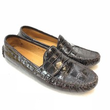 Cole Haan Croc Embedded Driving Moccasin Slip On Penny Loafer Size 8AA - $33.22