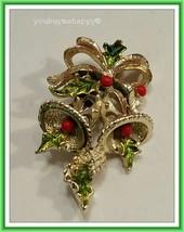 Vintage Gerry's Christmas Bells  Brooch Pin - $14.85