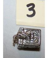 Sterling Silver Prayer Box w/Art Noveau-Lot 3-1 inch tall, 1/2 inch wide  - $14.50