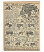 Antique Toy Wagons 1914 AD Ten Wagon Models Shown Described Original Per... - $15.99