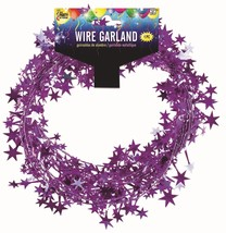 25 Foot Wire Garland - Purple (12 pcs) - $22.81