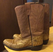 Vintage Children's Leather & Ostrich Cowboy Boots Size 2 1/2 D - $37.39