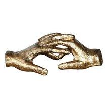 "Uttermost 20121 Hold My Hand - 9"" Sculpture, Antiqued Gold Leaf Finish - $138.60"