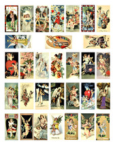 "angels cherubs vintage art clipart domino collage sheet download 1"" x 2""... - $3.99"