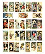 "angels cherubs vintage art clipart domino collage sheet download 1"" x 2""... - $3.99"
