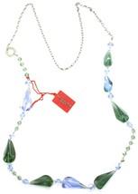 Necklace Antica Murrina Venezia, Glass Murano, 90 cm, CO561A12, Drops Blue Green image 2