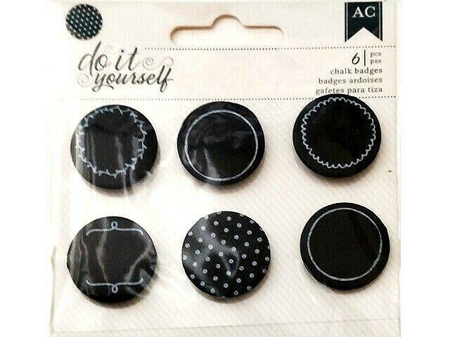 American DIY Dimensional Chalk Badges Stickers #368718