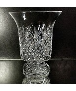 """WATERFORD LISMORE 6"""" Open Hurricane Lamp Candle Holder Vase SIGNED Jim O... - $166.95"""