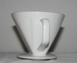 Vintage Starbucks White Coffee Mug cup  Planter Shabby Chic Decor Flower Pot - $24.74