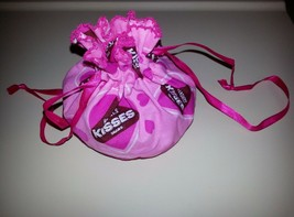 Longaberger Hershey Kisses Trinket Bag Set of 5 Pink Valentines Easter C... - $15.79