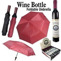 Wine Bottle Rain Umbrella 36 Inch Foldable Collapsible Novelty Gift (Lot... - $79.15
