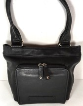 Fossil Vintage Black Soft Leather Shoulder Bag with Wallet Compartment - $46.55