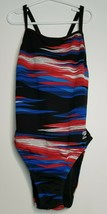 Womens Endurance Speedo One Piece Athletic Swimsuit Size 6/32 Red White ... - $17.99