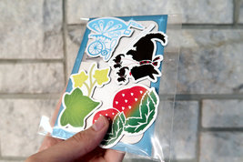 RNV Summer Magnet Set of 4 with Refrigerator Card | Bicycle, Scottish Terrier, S image 2