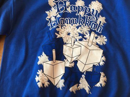 Happy Hanukkah Sweatshirt NWT Medium