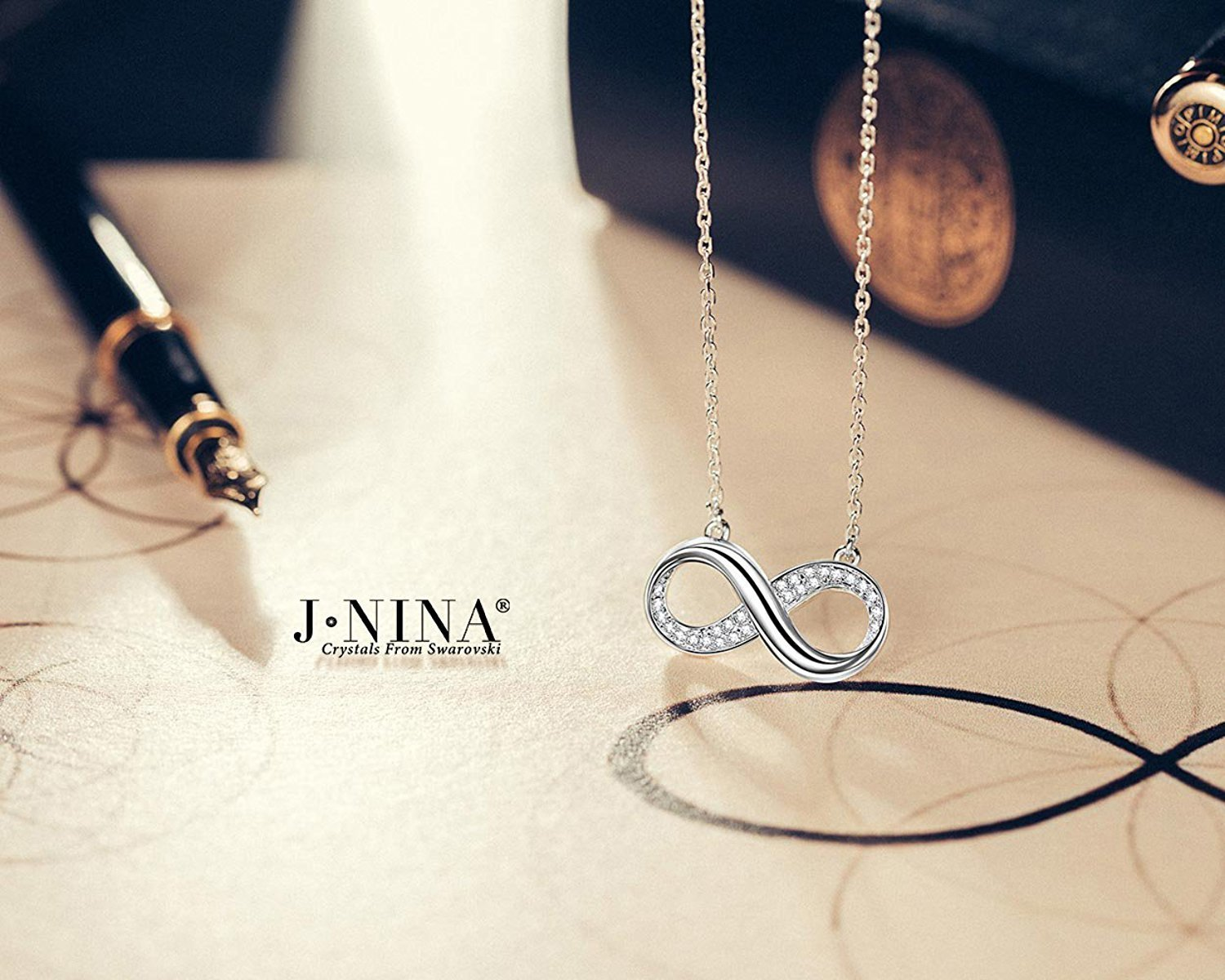 """Infinite Forever"" Infinity Bib Necklace-with Luxury Jewelry Box as Valentines D"