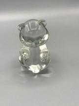 Fenton Clear Glass Teddy Bear - $12.75