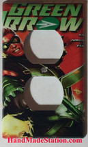 Green Arrow Comic Book Light Switch Duplex Outlet Cover Plate & more Home decor image 2