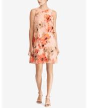 Lauren Ralph Lauren Dress Sleeveless Pink Floral Sz 14 NEW NWT - $155.00