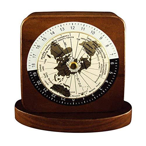 Woodessen, Paper Weight - Walnut, Solid Wood, World Time Zones.
