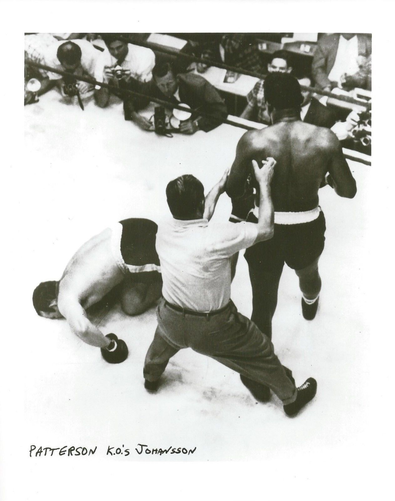 Primary image for INGEMAR JOHANSSON vs FLOYD PATTERSON 8X10 PHOTO BOXING PICTURE