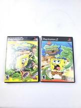Lof of 2 Playstation 2 SpongeBob Globs of Doom & Flying Dutchman Video G... - $9.89