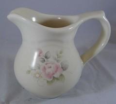 Pfaltzgraff TEA ROSE Creamer 4.25 in. Stoneware Pink Blue Flowers Pitcher  - $6.26