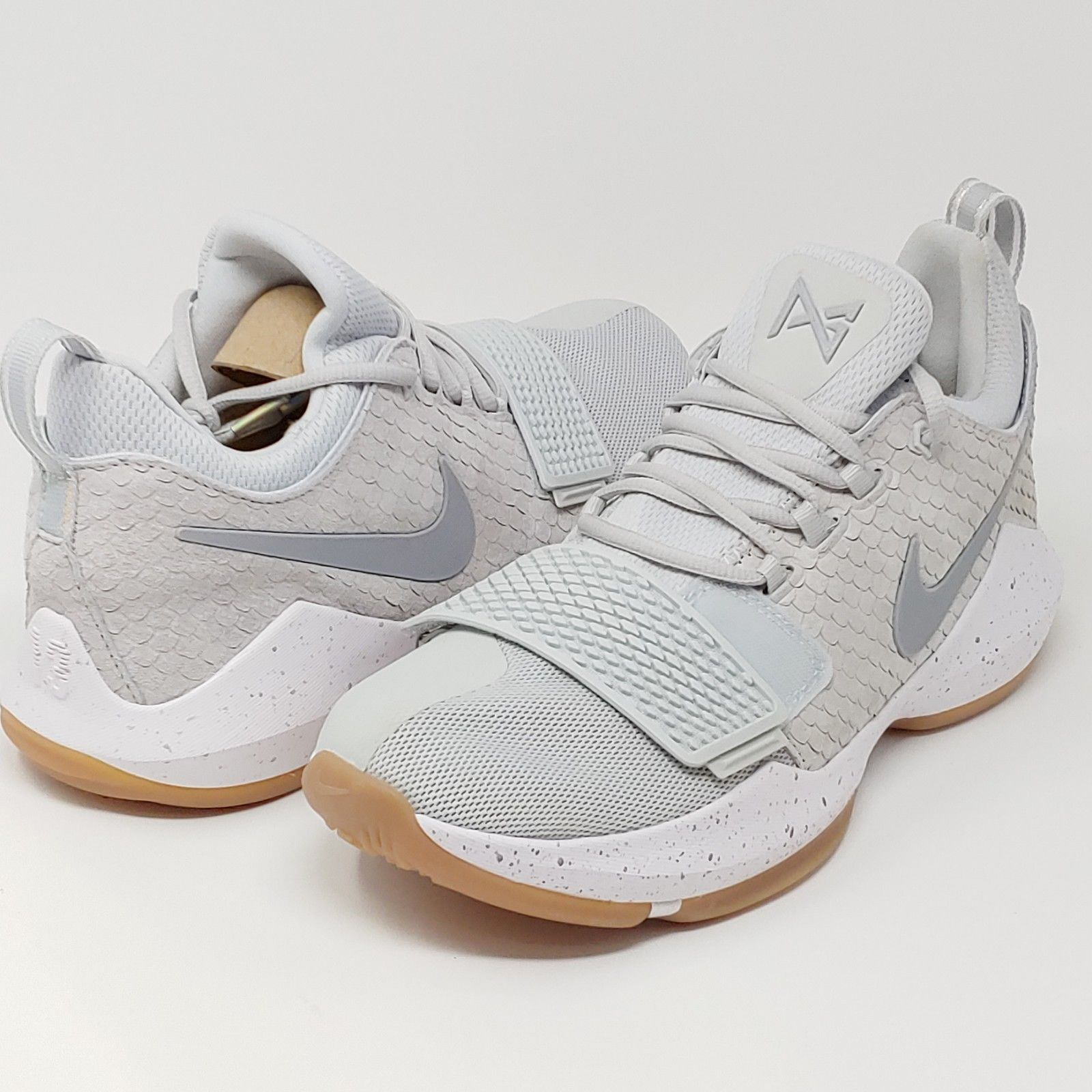 a2a3f2ffba299b ... Nike Paul George PG1 Pure Platinum Wolf Grey Basketball Sneakers Mens  Size 9.5 ...