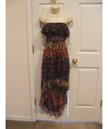 NWT self esteem strapless  belted high-low Sheer skirt Dress JR. XLARGE - $39.59