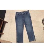 Womens 8 TOMMY HILFIGER Blue Denim Capri jeans Pants   - $13.03