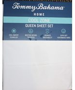 Tommy Bahama Cool Zone Cotton White Sheet Set Queen - $67.00