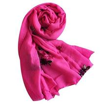 PANDA SUPERSTORE Embroidered Shawl Thick Warm Scarf Scarves Women Dual-use Shawl