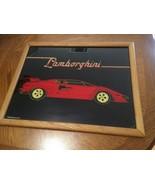 Lamborghini framed glass Graphic Creations Inc Glitter Pop - $18.70