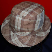 Dorfman Pacific Authentic Handmade Headwear Size M Warm Plaid Fedora Trilby image 6