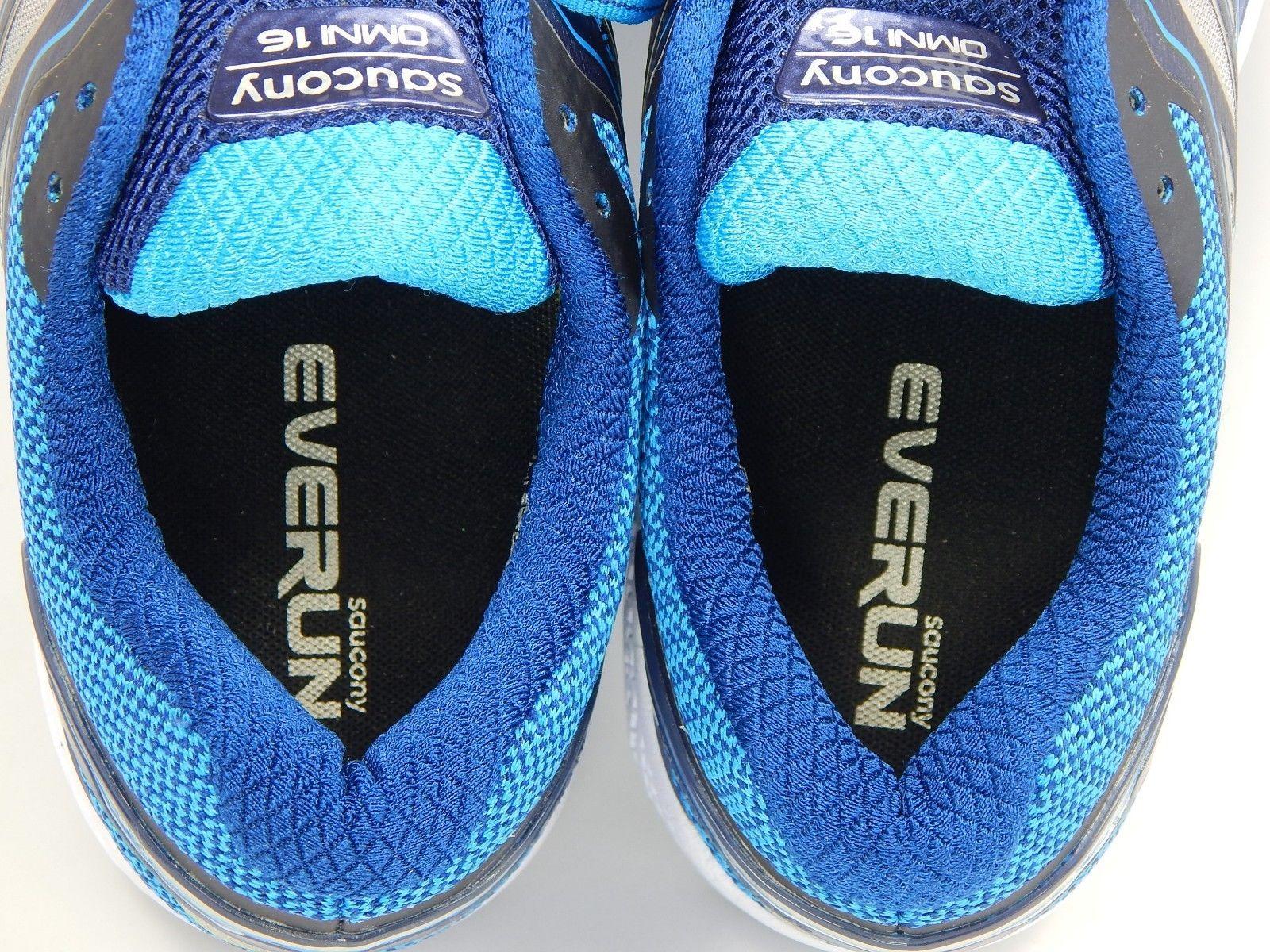 Saucony Omni 16 Size 10 M (B) EU 42 Women's Running Shoes Gray Blue S10370-1