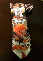 Rare Vintage 1990 Cleveland Browns Mens Neck Tie Ralph Marlin EUC - $28.68