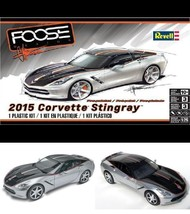 Hobby High Detailed Plastic Scale 1/25 Car Model Kit Fosse Corvette Stin... - $44.74