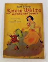 Walt Disney's Snow White & the Seven Dwarfs Linen Like Children's Book 1938  - $40.00