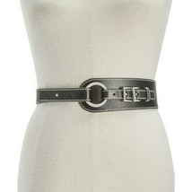 Michael Kors Double Buckle Leather Belt, Black, L $78 - $30.60